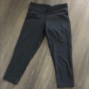 M Champion black cropped yoga pants leggings